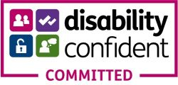 The logo for Disability Confident Committed